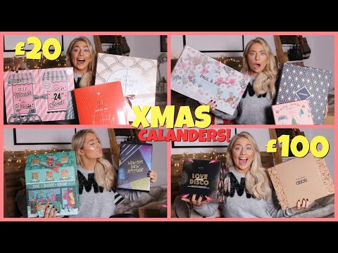 HUGE Christmas Advent Calendar Unboxing!! I Rated The BEST & WORST Beauty Calendars!