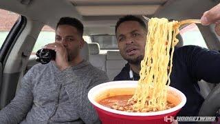 Eating Paldo Jjamppong Seafood  Spicy Noodles King Bowl @hodgetwins