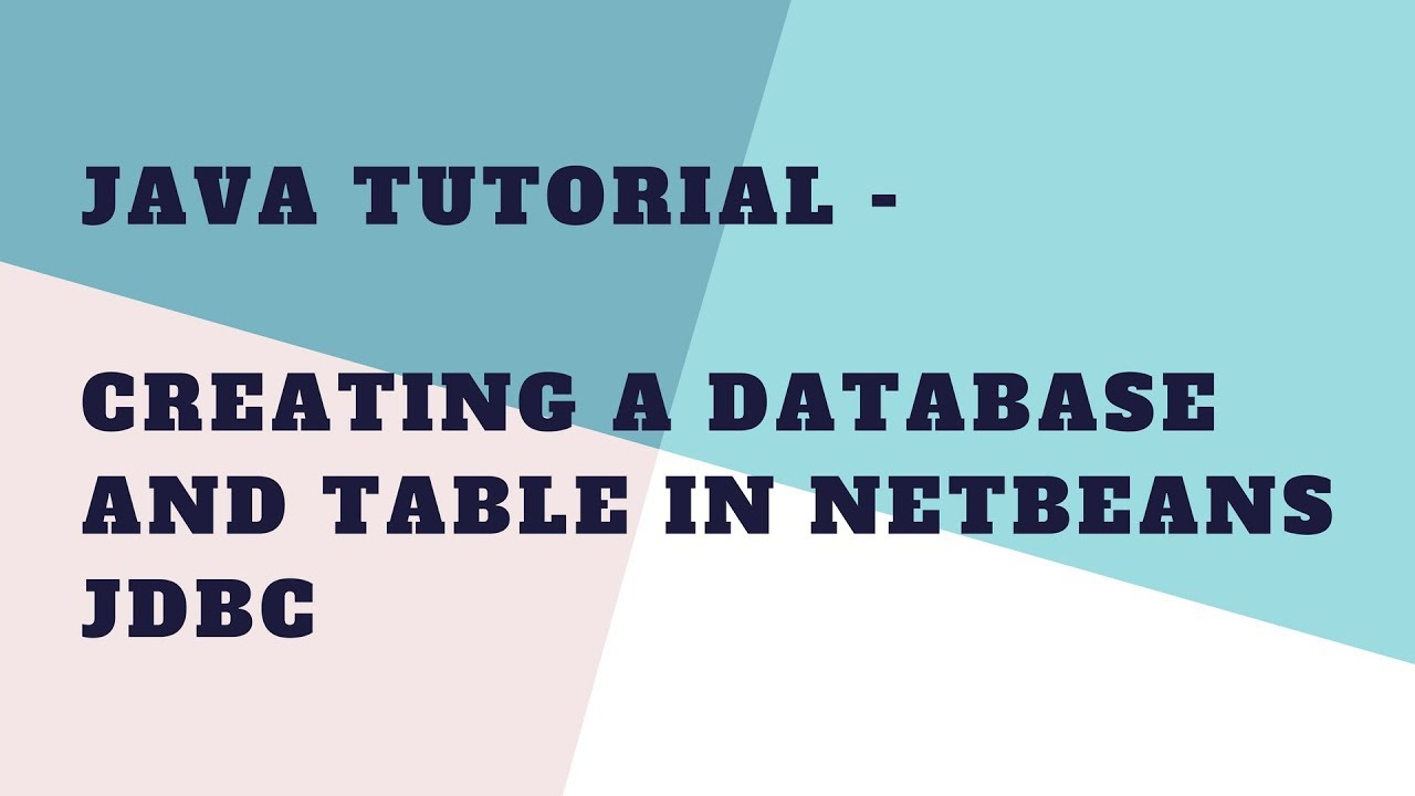 Working with the java db (derby) database netbeans ide tutorial.