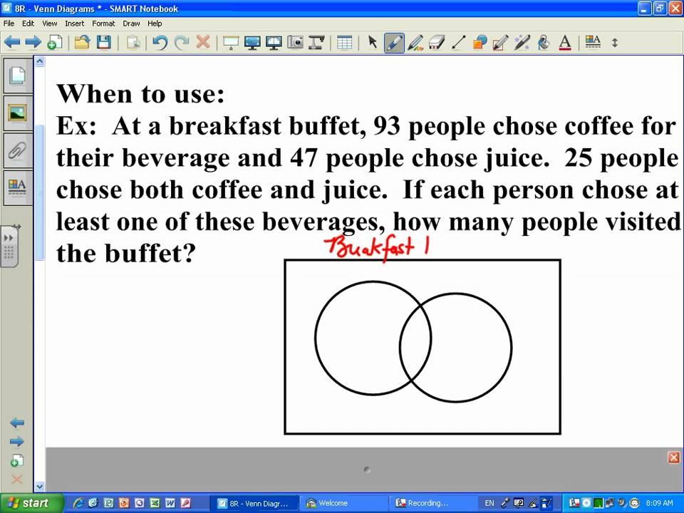 how to solve a venn diagram