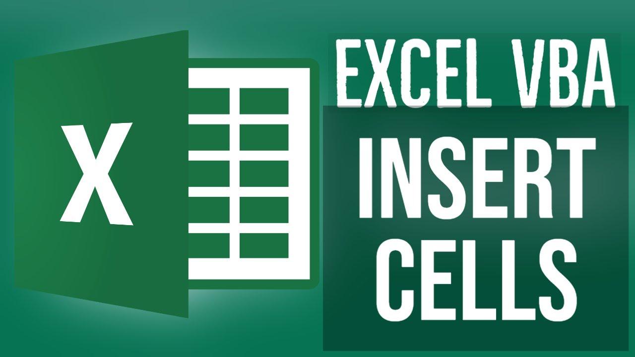 Excel VBA Tutorial for Beginners 19 - VBA Insert Cells in MS Excel