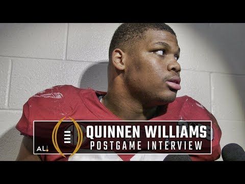Quinnen Williams after Alabama's national championship loss