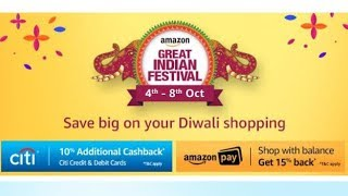 Amazon Great Indian Festival | 4th to 8th October 2017 | Diwali Special Sale