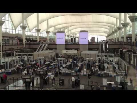 Denver International Airport Main Terminal.
