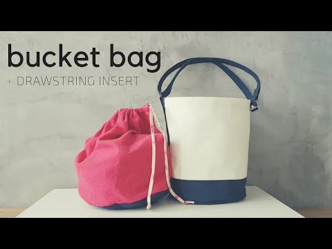 How to Sew Round Base Bucket Bag with Drawstring Insert and Adjustable Strap 1
