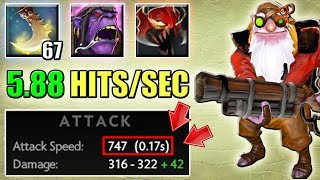 Sniper with Max Attack Speed [Almost 6 Hits per Second. +200 Stolen Agility] Dota 2 Ability Draft
