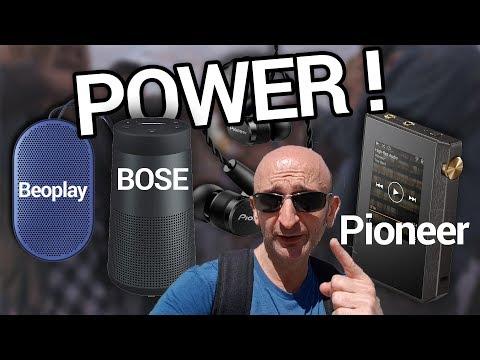 Tests  : enceintes Bose Revolve et Beoplay P2, écouteurs et baladeur Pioneer ! (Power 141)