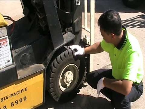 Forklift licence course pre operation check youtube