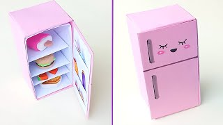DIY Origami Refrigerator idea || How To Make paper Refrigerator || Origami Craft || Miniature Craft