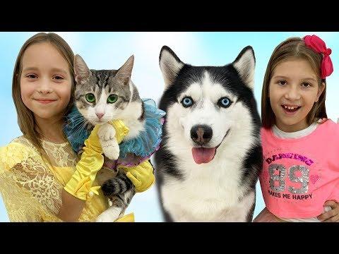 София и Вика поменялись своими питомцами / Sofia And Vika Exchanged Dog And Cat Pets
