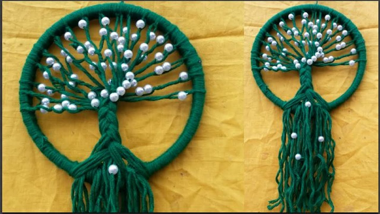 Easy DIY Woolen Wall Hanging Design for Home Decor | wall hanging ...