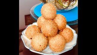 Bánh cam nhân mặn: món lạ mà quen (Vietnamese deep-fried rice ball) - - Bếp Nhà Nội
