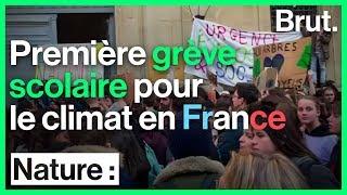Lou, participante à la première grève scolaire pour le climat en France