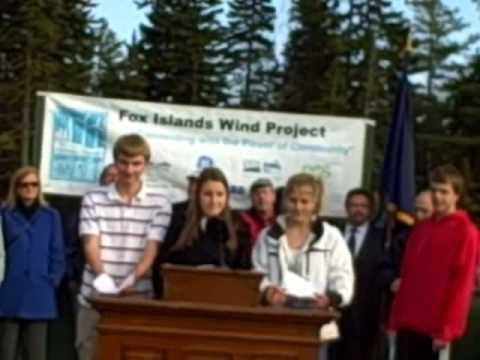 Vinalhaven Celebrates Community Wind Power Project