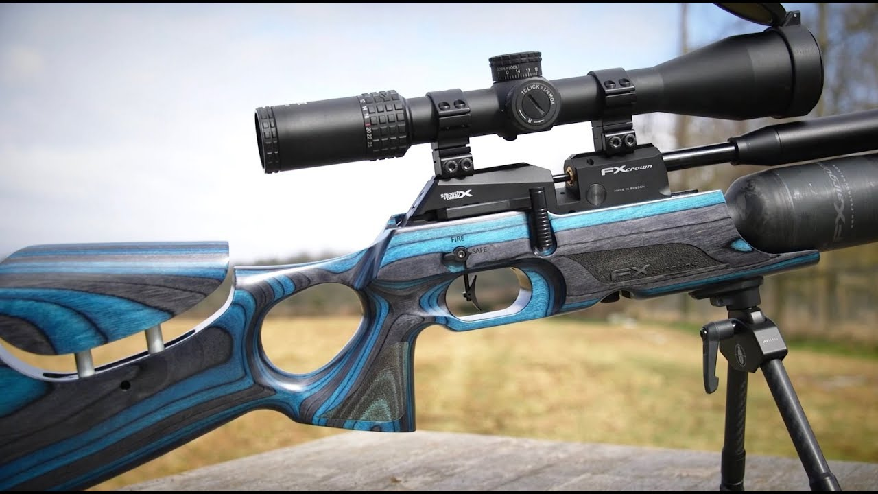 REVIEW: FX Crown Air Rifle  22 - Power Accuracy NEW X Barrel
