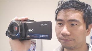 andoer 4K 48MP Handheld Video Camera Camcorder Review