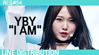How would YBY sing I AM (Produce 48) | Line Distribution