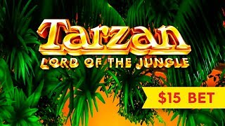 Tarzan Lord of the Jungle Slot - HIGH LIMIT BATTLE!