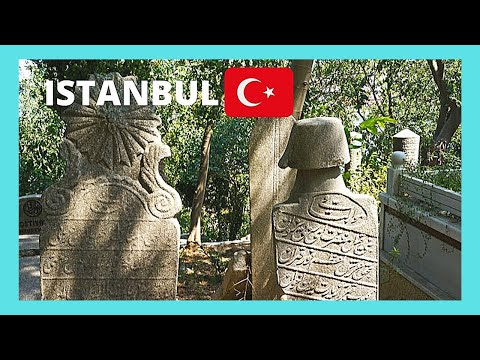 The historic Sultan Mahmud II Cemetery in Istanbul (Turkey)