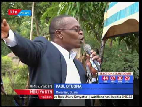 Paul Otuoma na Ojaamong warushiana cheche za maneno Busia