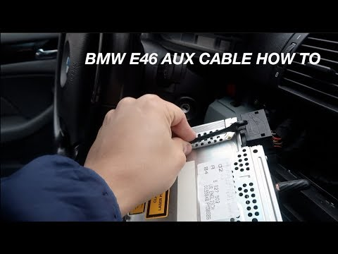 Bmw E46 Aux Input How To Youtube
