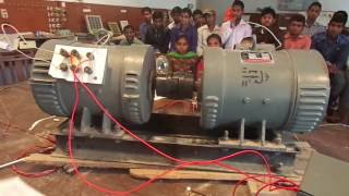 EXPERIMENT  LIVE SHUNT GENERATOR AND DC MOTOR  ELECTRICAL ENGINEERING.