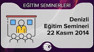 GCM Forex Eğitim Semineri - 22 Kasım 2014 - Denizli