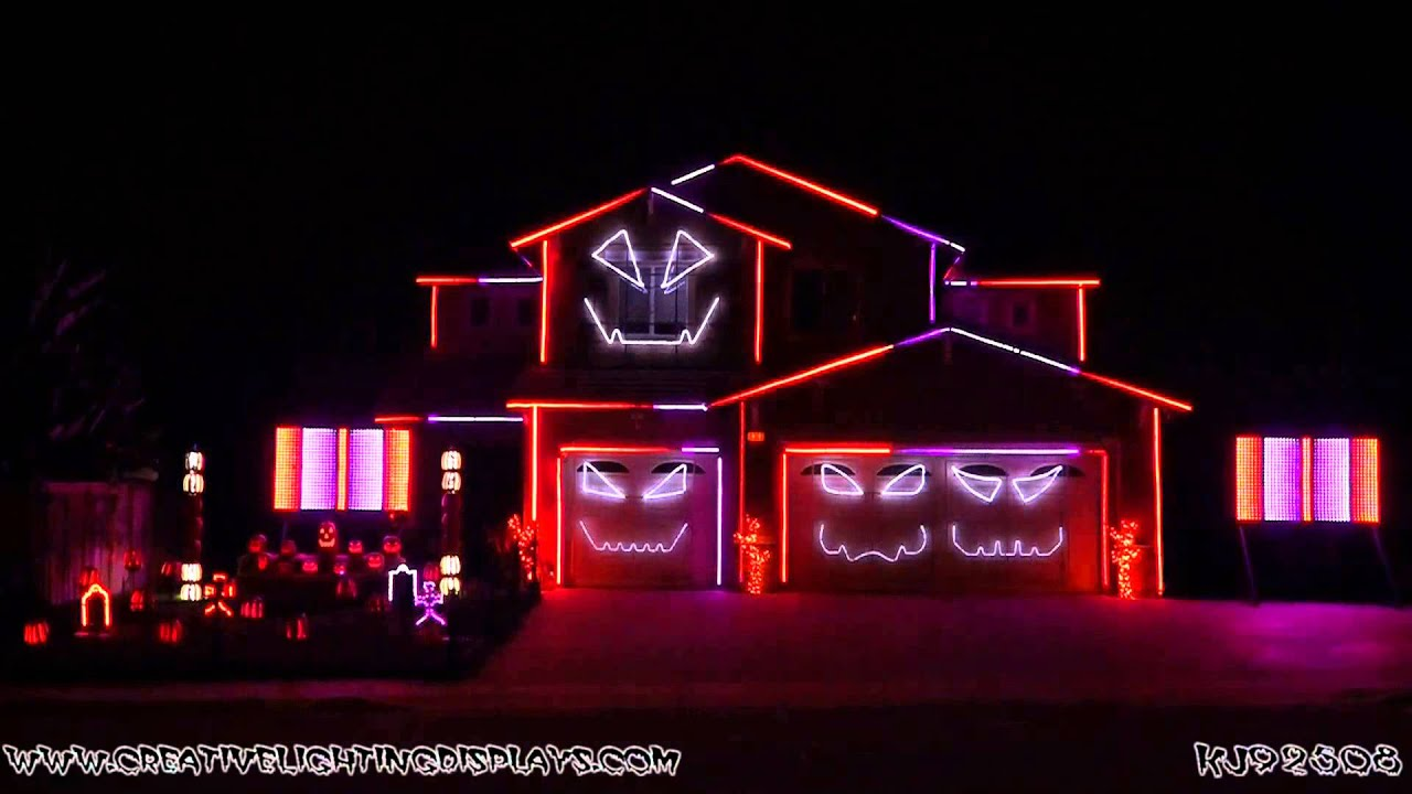 halloween light show 2015 ghostbusters ray parker jr youtube