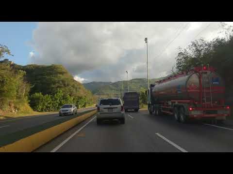 Drive from the airport, Caracas, Venezuela, 2017