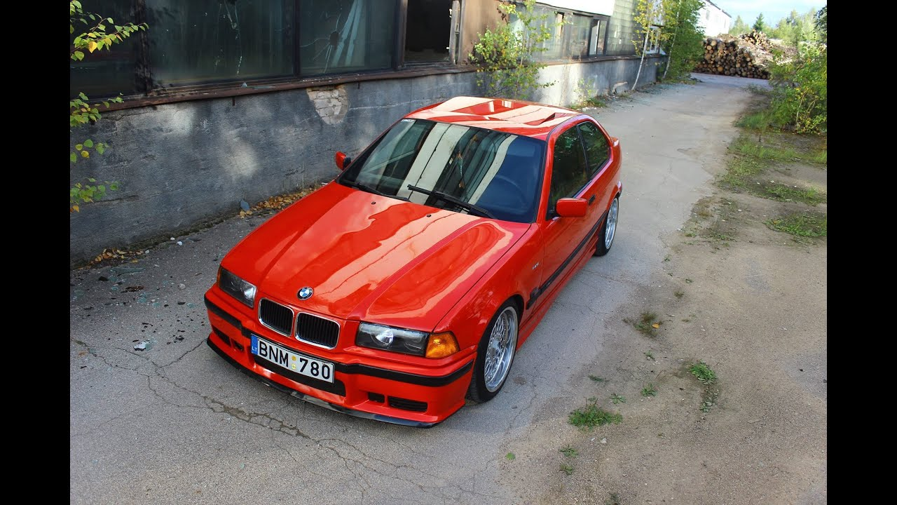 Bmw E36 Stance Hellrot Youtube