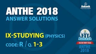 ANTHE Class IX Answer Solutions | 28th Oct, 2018