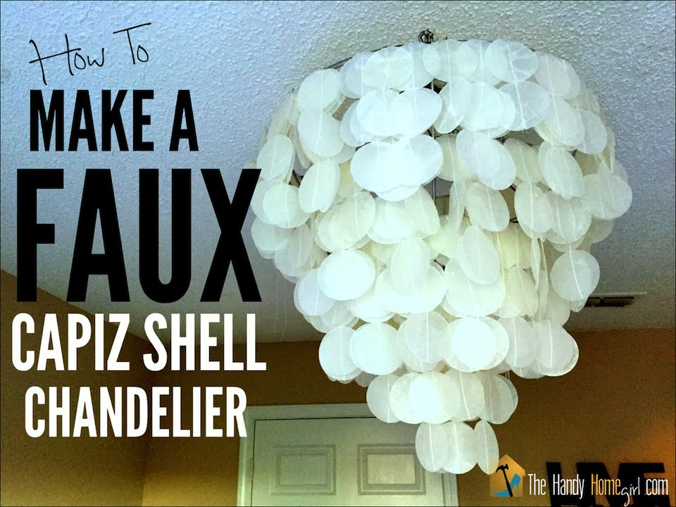 How to make a faux capiz shell chandelier i ep 02 youtube aloadofball Images