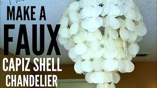 How To Make A Faux Capiz Shell Chandelier I Ep: 02
