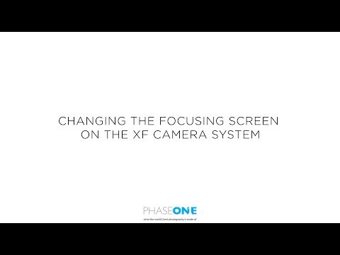 Support | Changing the Focusing screen in the XF Camera System | Phase One