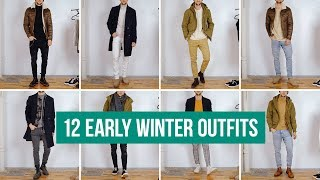 12 Casual Early Winter Outfits for Men | Outfit Ideas Styling 3 Winter Jackets