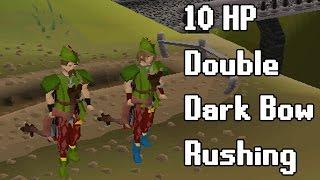 10 HP Double Dark Bow Rushing - Oldschool Runescape Pking