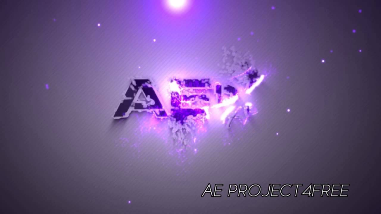 after effects project free particles house logo