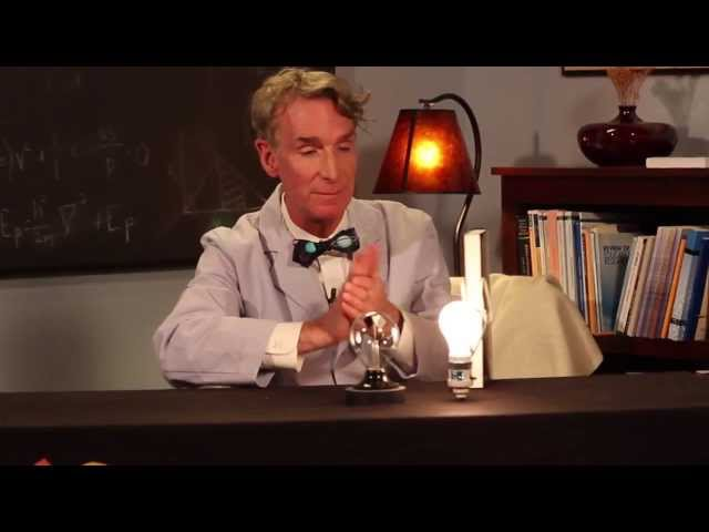 Bill Nye the Science Guy explains the science of a radiometer