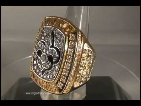 2009 New Orleans Saints Super Bowl XLIV Championship Replica Ring