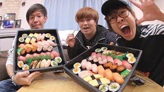 【大食い】1万円分の寿司を食べきる!!!【6人前】