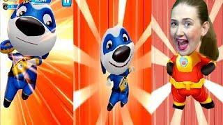 Спасли супер Хенка и победили Енота в игре кот Том страна супергероев! от Каталекс!