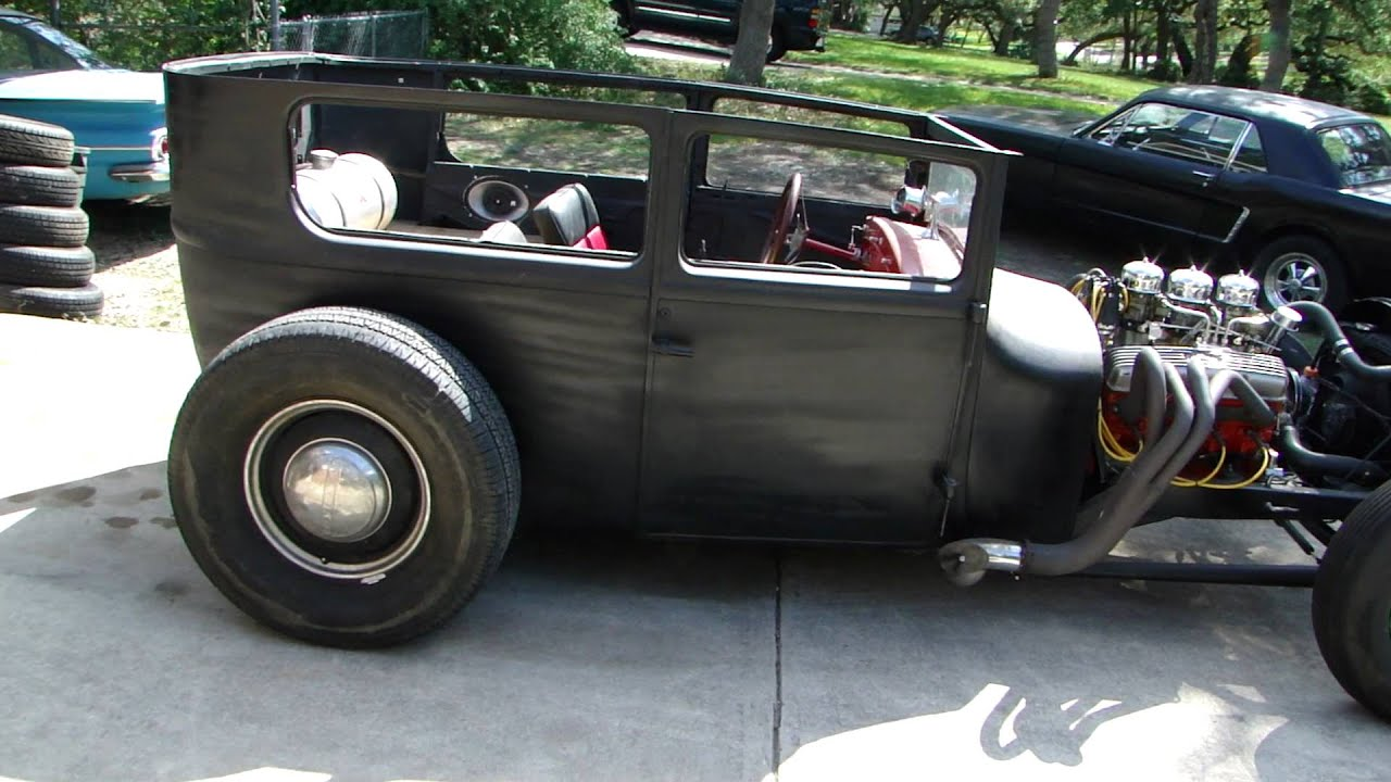 rat hot rod 1927 ford model t sedan - YouTube