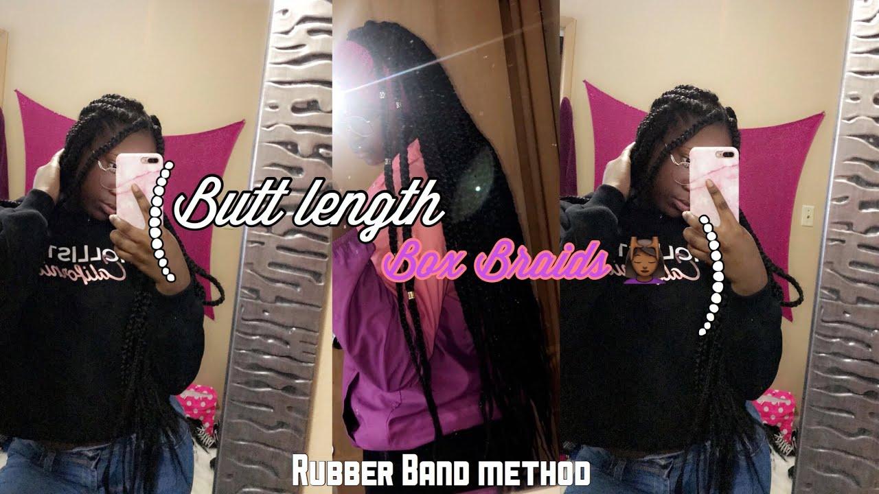 cb7966556b8 WATCH Me Do My Own Box Braids!!! Butt Length 🥵 - YouTube