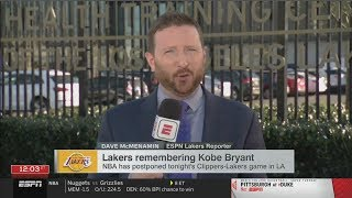 Dave Mcmenamin REPORTS LeBron's Lakers remembering Kobe Bryant