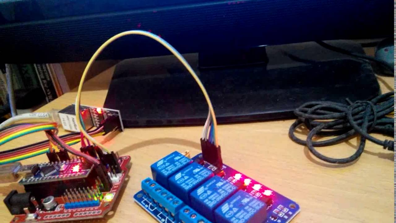 Arduino nano, ENC28J60 Ethernet shield and 4 channel relay – KutuKupret