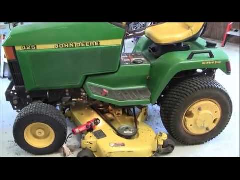 John Deere 425 Deck Removal on