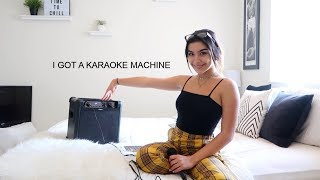 i bought a karaoke machine!!!!!