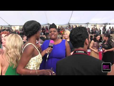 Adrienne C  Moore @ the 2016 SAG Awards | Black Hollywood Live