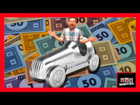 I WON A NEW CAR! Monopoly Super Grand Hotel Slot Machine Bonuses With SDguy - Big Wins!