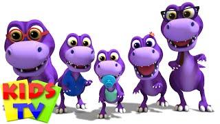 Dinosaur Finger Family | Nursery Rhymes Music For Children | 3D Rhymes kids Tv